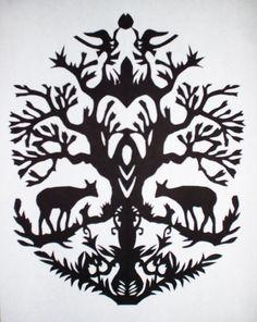 Polish folk art tattoo.  Shoulder?