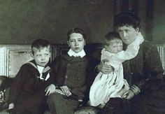 Princess Irene and her 3 sons:  left to right, Prince Sigismund, Prince Waldemar, and Prince Heinrich.  Though both Waldemar and Sigismund married, only Sigismund would have children.