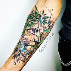 Leon Tattoo watercolor by Susboom Tattoo