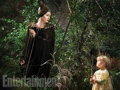 Angelina Jolie and daughter Vivienne for 'Maleficent'