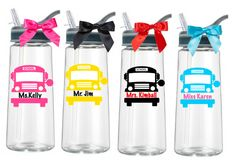 Personalized Bus Driver Water Bottle /Personalized Bus Driver Gift/Custom Bus Driver Appreciation Gift by PYdesigned on Etsy