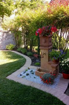 Container gardening, attempt the gardening pin example reference 4055146867 to preparing herbs in a pot. Garden Deco, Garden Art, Garden Design, Garden Water Fountains, Water Garden, Backyard Patio Designs, Backyard Landscaping, Garden Sink, Dream Garden