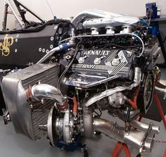Renault V6 pre-hybrid F1 engine, c.appx2013. Lotus F1, Bike Engine, Motor Engine, F1 Racing, Road Racing, Megane Rs, Classic Race Cars, Performance Engines, Race Engines
