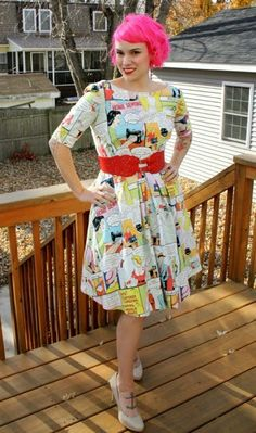 """Gertie's New Blog for Better Sewing: The """"Home Sewing Is Easy"""" Novelty Print Dress"""