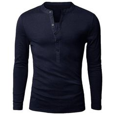 Mens Long-sleeved Polos Fashion Casual Slim Fit ❤ liked on Polyvore featuring men's fashion, men's clothing, men's shirts, mens longsleeve shirts, mens long sleeve shirts, men's apparel, mens clothing and mens slim fit long sleeve t shirts