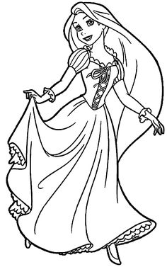 Rapunzel And Flynn Coloring Page WeColoringPage 30