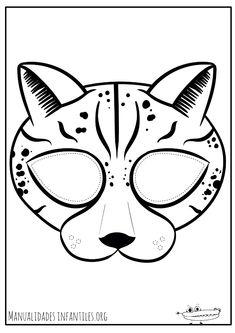 Cheetah Mask Printable Jaguar Leopard Animal Masks