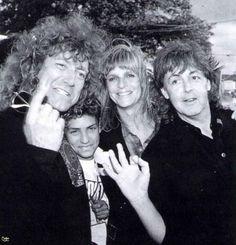 Robert Plant, Paul & Linda McCartney