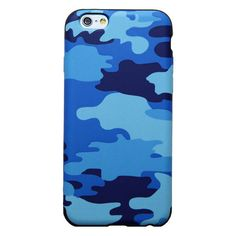 Yamamoto Industries Camo case for iPhone 6 - Blue ($20) ❤ liked on Polyvore featuring accessories, tech accessories и phone cases