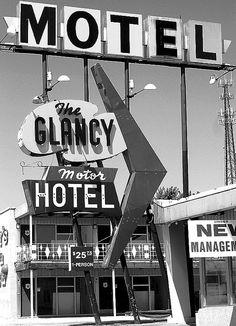 Clinton, Oklahoma. / design B/ vintage neon sign