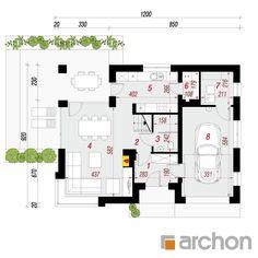 Projekt domu Dom w zdrojówkach - ARCHON+ Steel Frame House, Traditional House, Floor Plans, Kpop, Garden, House 2, Projects, House, Garten