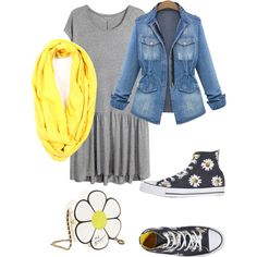 Lazy Day by sequoiawhitney on Polyvore featuring polyvore, fashion, style, H&M, Converse and Betsey Johnson