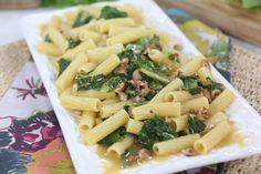 Lidia Bastianich's Mezzi Rigatoni with Sausage and Escarole Lidia's Recipes, Pasta Recipes, Dinner Recipes, Healthy Recipes, Healthy Food, Dinner Dishes, Pasta Dishes, Pasta Sauces, Main Dishes