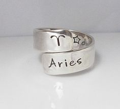 Hey, I found this really awesome Etsy listing at https://www.etsy.com/listing/125386721/zodiac-ring-sterling-silver-hand-stamped