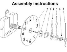Learn how to assemble and mount clock hands to your quartz clock movements. Clock Hands Mounting Instructions for our Mini Clock Movements. Make A Clock, Diy Clock, Clock Ideas, Wall Clock Plans, Pallet Clock, Clock Repair, Wood Supply, Quartz Clock Movements, Kitchen Wall Clocks