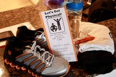 Date Night Out ~ Let's Get Physical ~ This can include kids! Send hubby an invite to your date. Let him sleep in and make protein shakes for breakfast. Don Workout gear and head with kids to the local park to run or ride bikes. Play some sports, do exercises, stretches...etc. Then head home for a healthy meal!