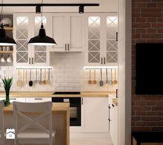 ODROBINA SKANDYNAWII - Średnia otwarta kuchnia dwurzędowa w aneksie, styl skandynawski - zdjęcie od TAKE [DESIGN]