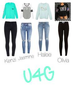 """Untitled #443"" by oliviamarvel on Polyvore featuring Victoria's Secret, Paige Denim, H&M and Frame Denim"