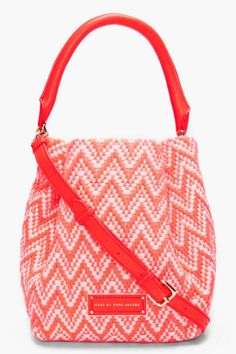 Marc By Jacobs Neon Coral Rosie Hobo   Womens Bag, Accessory & Handbag