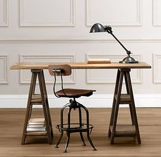 Door desk. I like these legs because they look really sturdy. Wonder if I could make these?