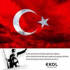29 Ekim Cumhuriyet Bayramı'mız kutlu olsun.