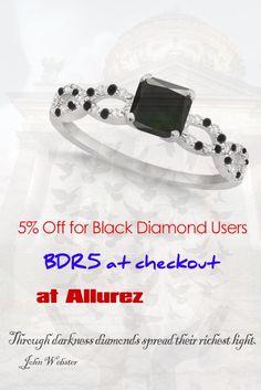 5% Off for Black Diamond Users #blackdiamondgem #Allurez #ad