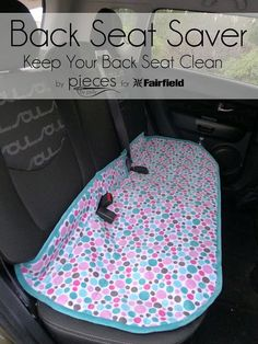 A handy to have DIY- Sew a Cuddle® Back Seat Saver - protect your car seat from kids and pets and crumbs and pet hair! Made with comfy Cuddle and notions from Fairfield. Sewing tutorial by @PiecesByPolly with @fairfieldworld