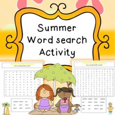 Summer Word Search Activity Printables No PrepIncludes;Easy word search (2 pages)Hard word search (1 page)No prep, just print and hand to students! Great for early finishers, time fillers etc. all linked to Summer topic.This product is included in my Giant Summer bundle found here