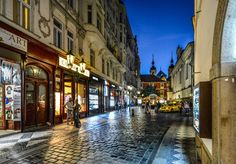 road, street, night, town, old, alley
