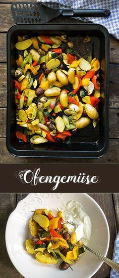 Ofengemüse mit Zitronen-Joghurt-Dip | Madame Cuisine Rezept