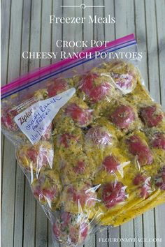 This Freezer Meal Cheesy Ranch Potatoes recipe is a great freezer meal side dish recipe. So easy to make you'll want to stock up the freezer.