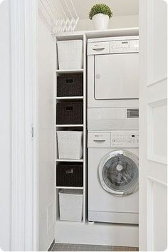 Basement Laundry Room Decorations Ideas And Tips 2018 Small laundry room ideas Laundry room decor Laundry room makeover Farmhouse laundry room Laundry room cabinets Laundry room storage Box Rack Home Tiny Laundry Rooms, Laundry Closet, Laundry Room Organization, Laundry Storage, Laundry Room Design, Cupboard Storage, Laundry In Bathroom, Closet Storage, Bathroom Closet