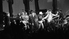 The Last Waltz concert at Winterland November 25, 1976, was filmed by Martin Scorcese  The Band and many guest musicians performed, including Neil Young, Bob Dylan, Van Morrison Ron Wood, Ringo Starr, Dr. John  and Joni Mitchell Photo: Gary Fong, The Chronicle