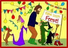Boek de interactieve voorstelling van Tijl Damen in het thema van de Kinderboekenweek 2014: Feest!