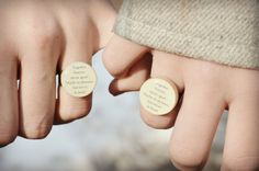 Best friend rings (set of 2) BFF ring Friendship rings Sister gift Going away gift graduation gift Starlight Woods