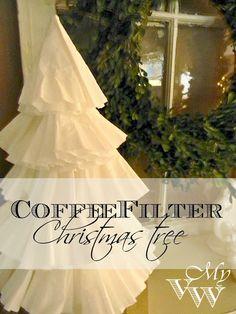 My Vintage Window: Coffee Filter Christmas Tree