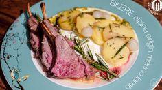 roasted merino lamb rack with potatoes