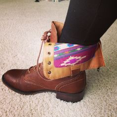 Adorable fold over combat boots
