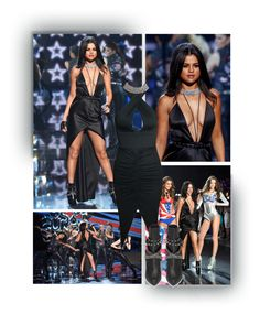 """""""Selena Gomez - Get the Look (VS Fashion Show 2015)"""" by fashionengineer ❤ liked on Polyvore featuring Victoria's Secret, women's clothing, women, female, woman, misses, juniors, GetTheLook, selenagomez and NewYearsEve"""