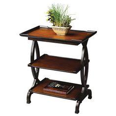 Loft Collection Two-Tone 3-Shelf Side Table - #M4024 | LampsPlus.com