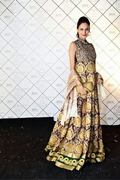 Mehreen Syed wearing HSY at HSY-Yoca furniture launch.