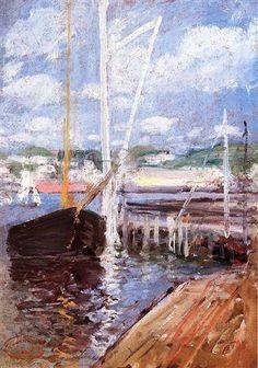 Boat Landing - John Henry Twachtman