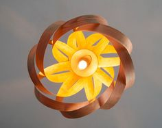Daisy dining room pendant lampshade cherry wood by Randomlights