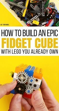 build your own fidget cube with legos!