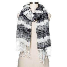 Women's Striped Scarf Black/White - Merona