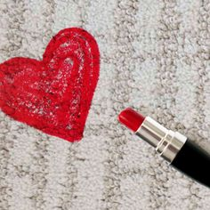 Description: How to remove a lipstick stain from carpet. #stains #DIY #howto #tips #hints #carpet