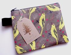 Hand made Cosmetics bag , cotton with our pattern design