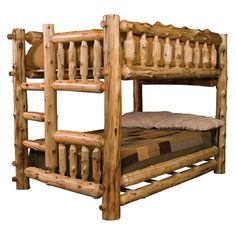 Buy the Fireside Lodge Furniture Cedar Log Bunk Beds and more quality Fishing, Hunting and Outdoor gear at Bass Pro Shops. Queen Bunk Beds, Bunk Bed With Trundle, Full Bunk Beds, Kids Bunk Beds, Log Bedroom Furniture, Lodge Furniture, Rustic Furniture, Furniture Mattress, Adirondack Furniture