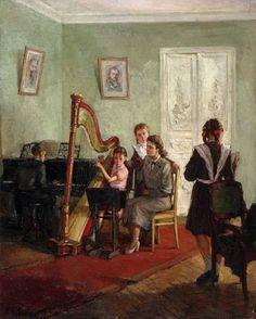 Александр Любимов. Урок музыки. 1939 Alexander Lubimov. Music Lesson. 1939