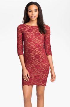 Alexia Admor Lace Overlay Dress RED Size XSMALL #25 #AlexiaAdmor #Cocktail